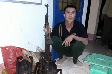 Bắt giữ và xử lý đối tượng sử dụng vũ khí, săn bắn động vật rừng nguy cấp, quý, hiếm trái phép